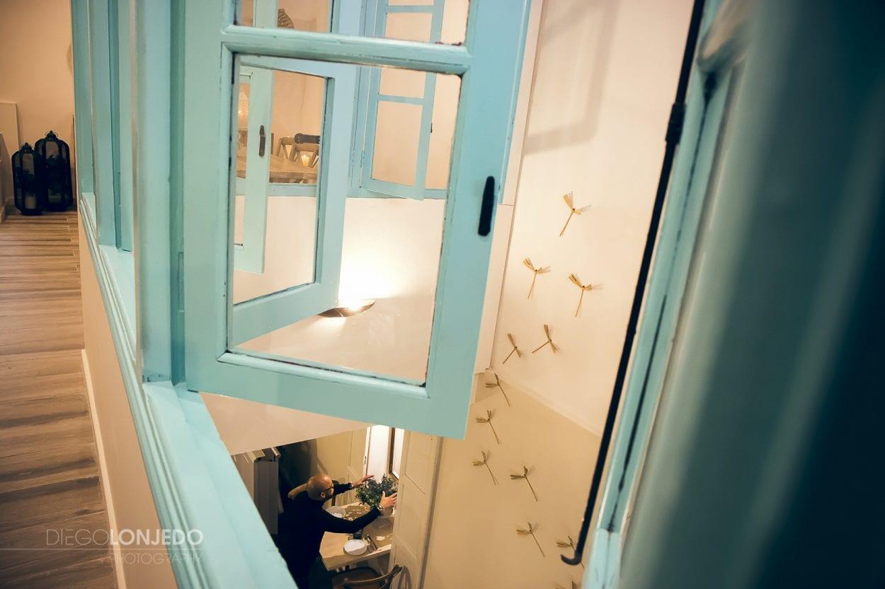 Fotografía de interiorismo en el restaurante Encuentro Cocina Natural