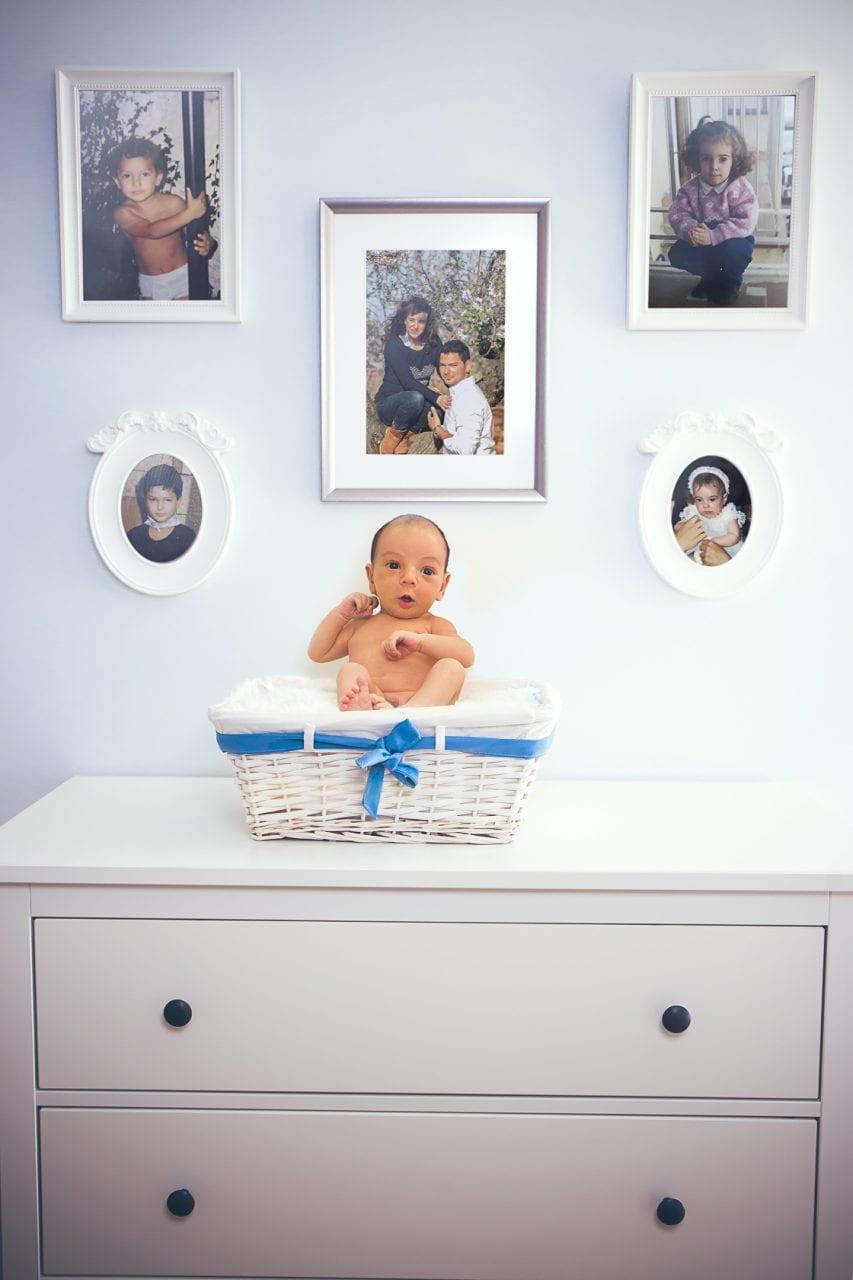 Fotografía de retrato a Martín de bebé