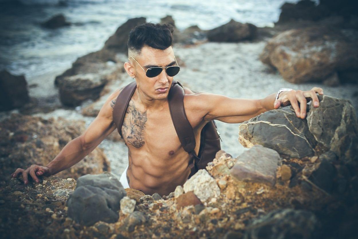 Fotografía de retrato en la playa