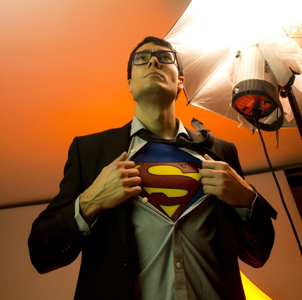 Fotografía montaje superheroe
