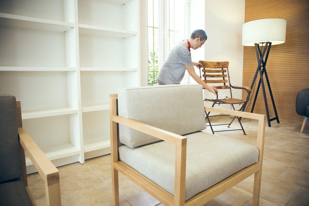 Fotografía interiorismo biblioteca Benicasim