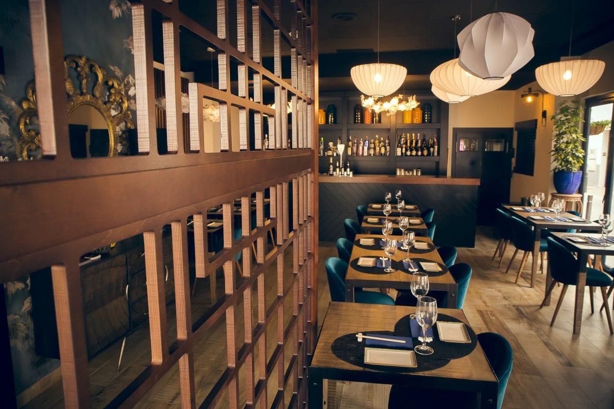 Fotografía interiorismo restaurante Asoko