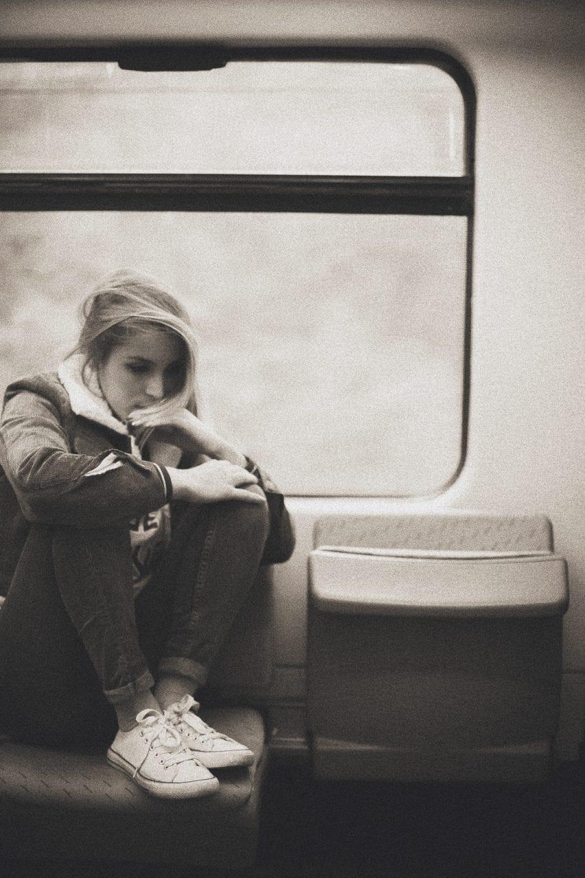 Fotografía retrato en el tren