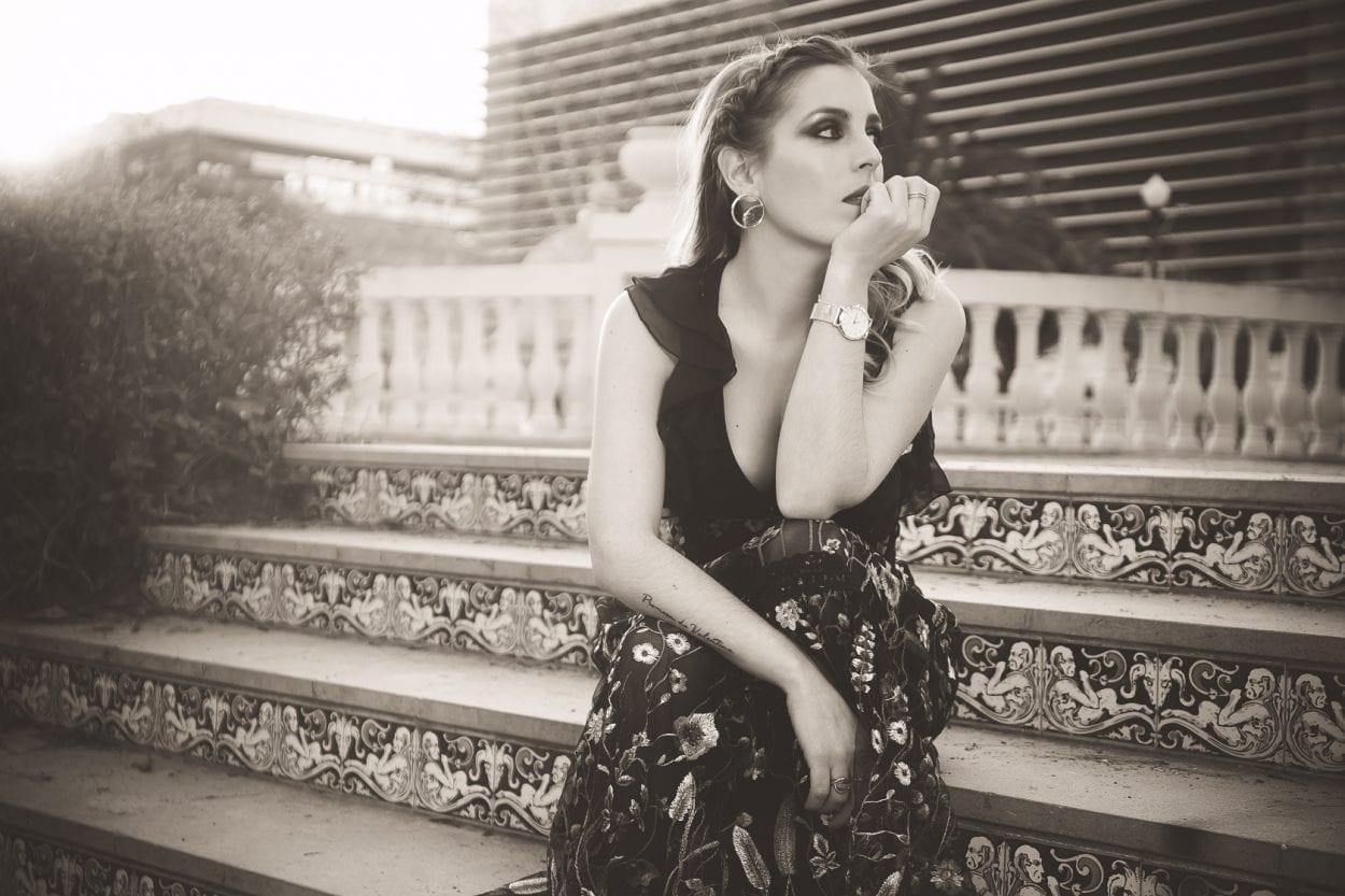Fotografías retrato a Eva parque Rivalta