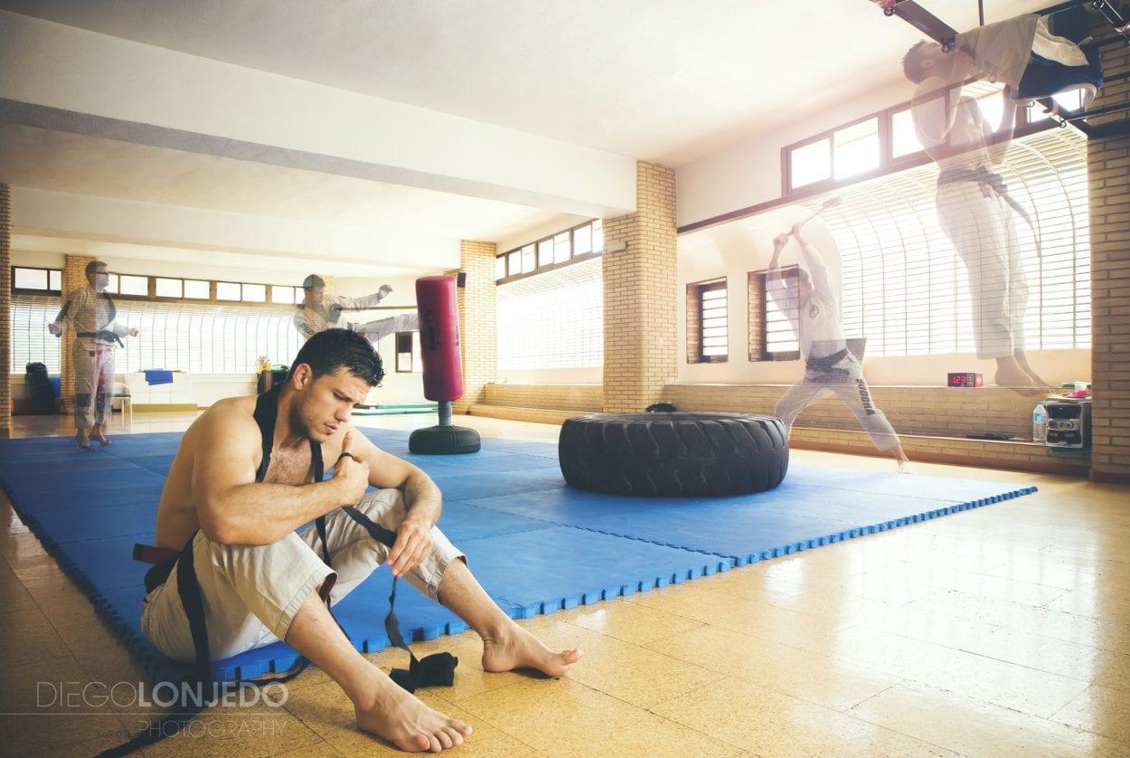 Montaje entrenamiento MMA
