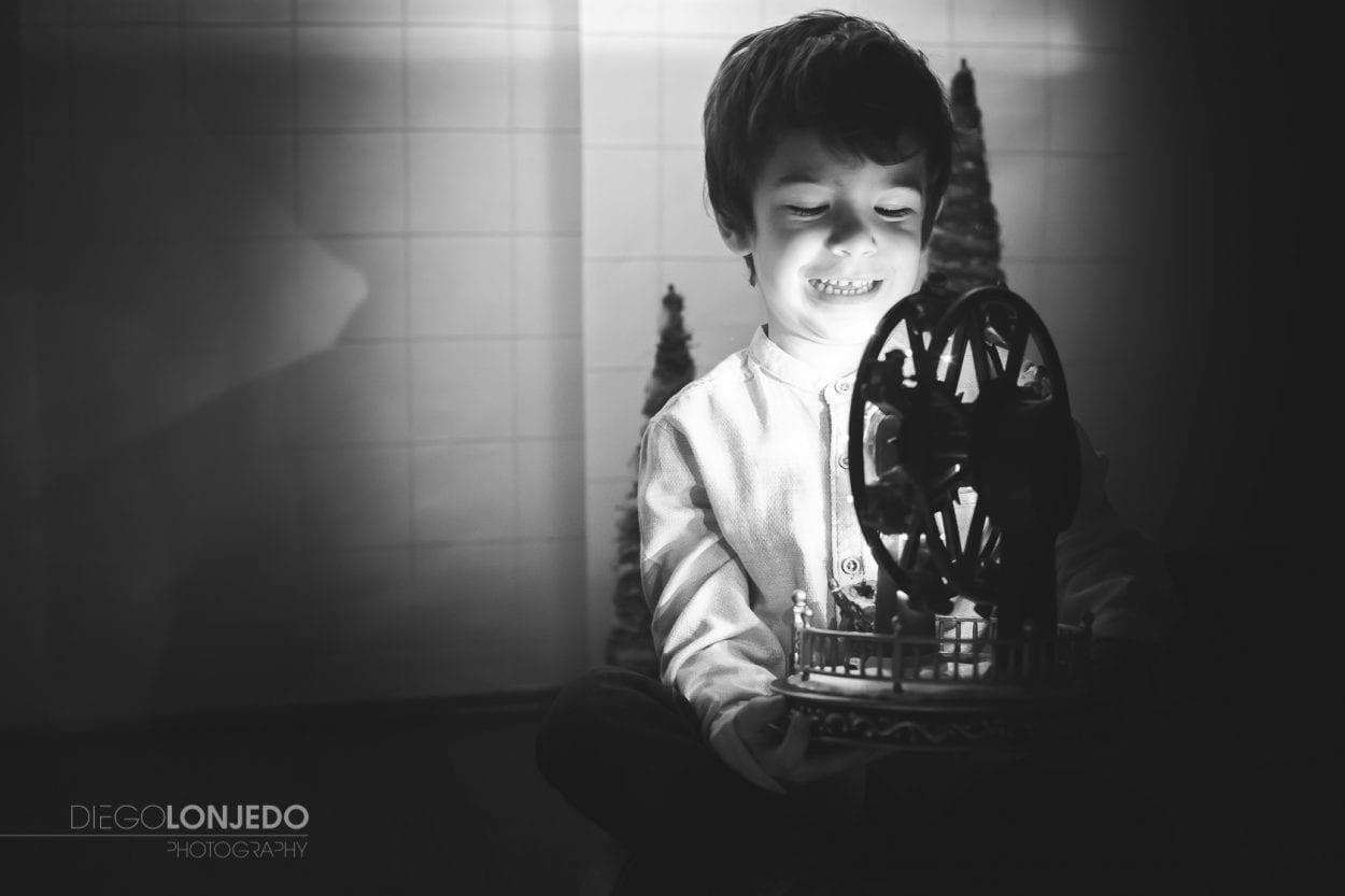 Fotografía del retrato de un niño