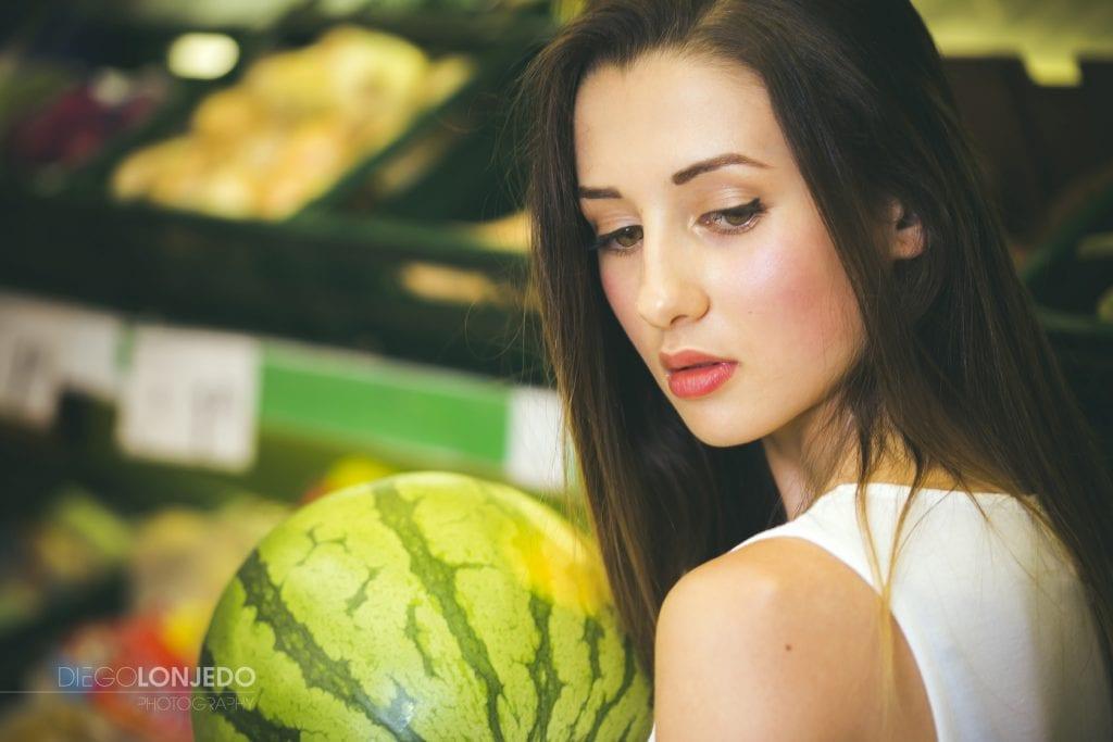 Retrato en un supermercado Consum