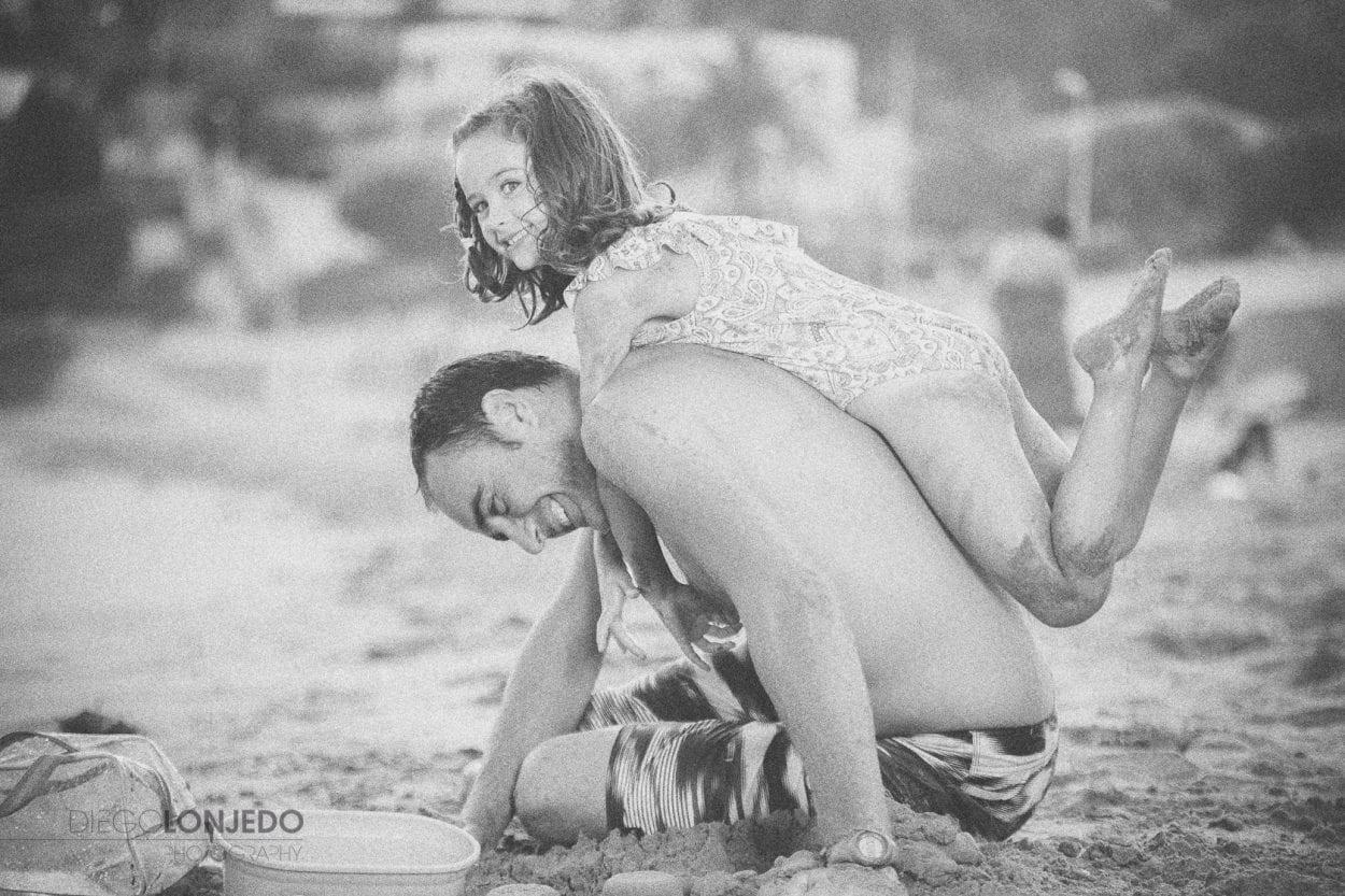 Retrato de Sara con su papá
