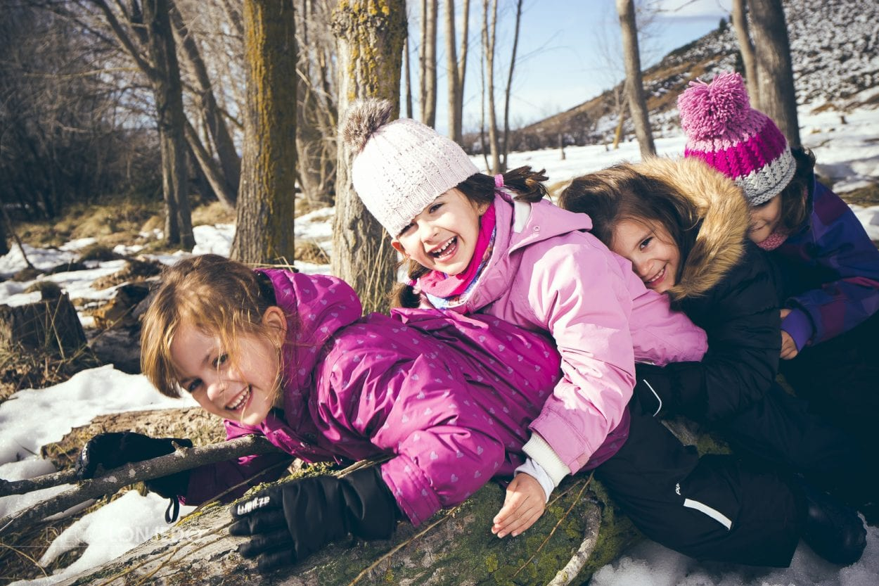 Sesión fotográfica en la nieve