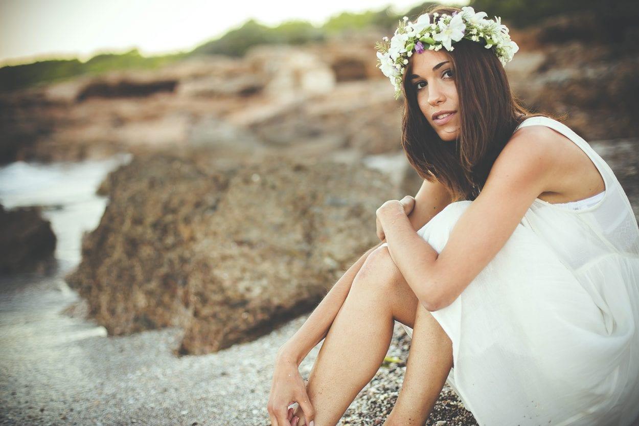Sesión fotográfica de retrato en la playa de la Renegá
