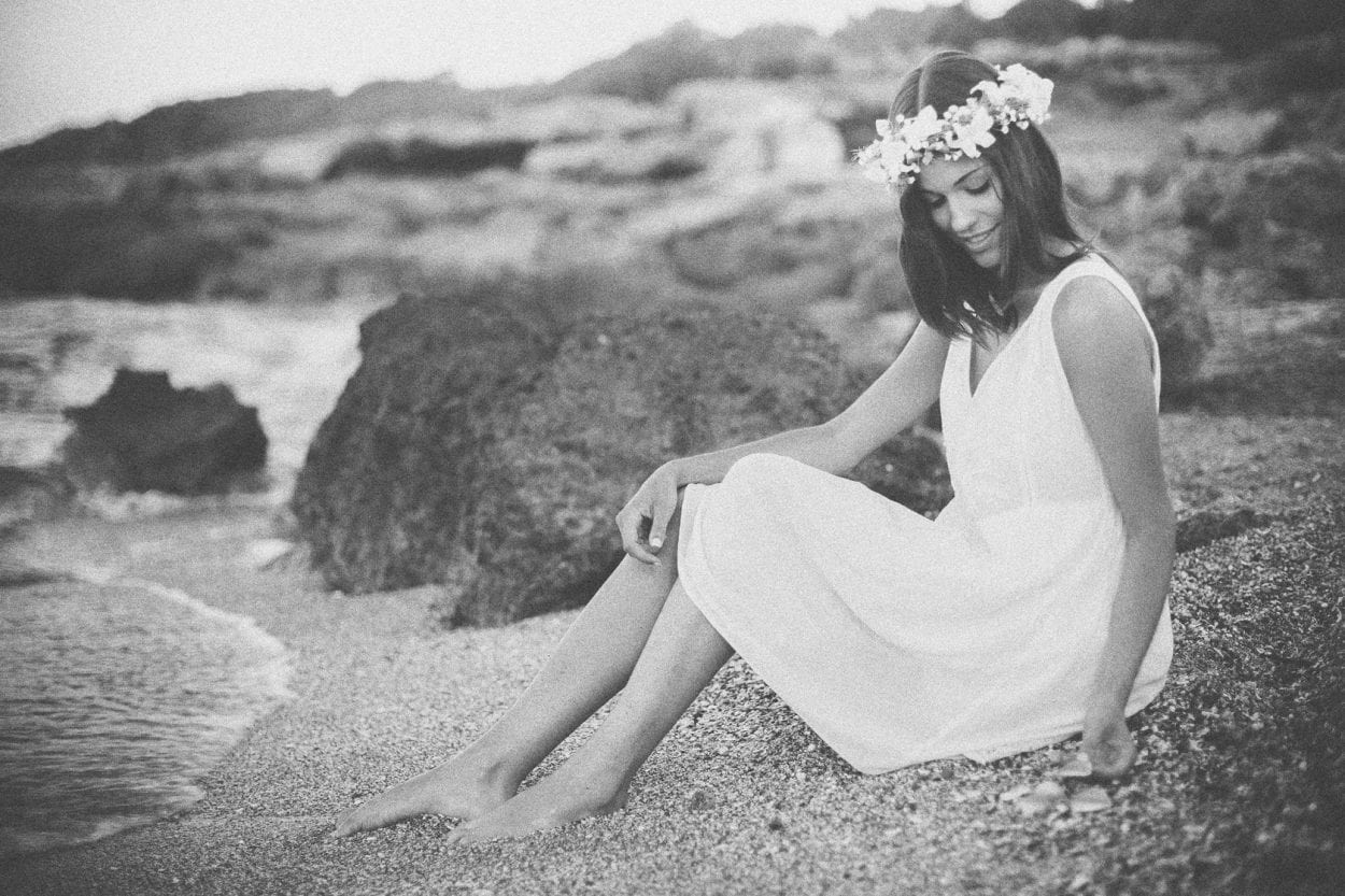 Sesión fotográfica en la playa de la renegá